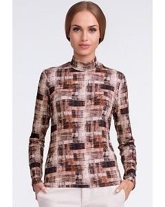 Блузка с коричневых тонах Sunwear U12