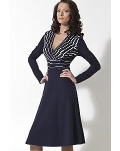 Трикотажное платье с длинным рукавом | B2 064