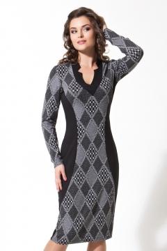 Платье с рисунком в ромб | B2 062