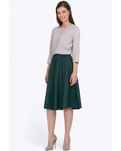 Тёмно-зелёная юбка Emka S783/alberi