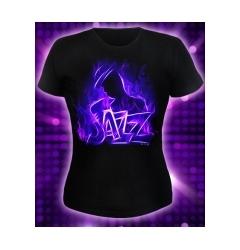 """Женская футболка """"Jazz"""". Светитя в темноте"""