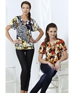 Стильная трикотажная блузка TopDesign | A3 101
