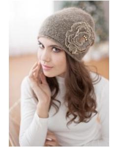 Женская шапка коричневого цвета Landre Габи