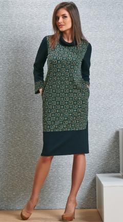 Чёрно-жёлтое платье TopDesign B4 046