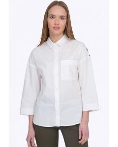Белая женская рубашка с рисунком на спине Emka B2290/ronda