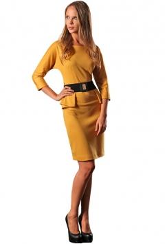 Желтое платье Golub   П152-1657