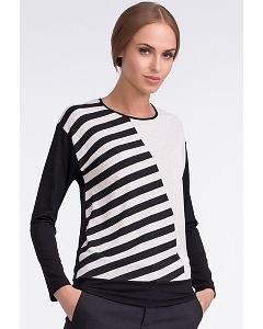 Стильная чёрно-белая блузка Sunwear U11