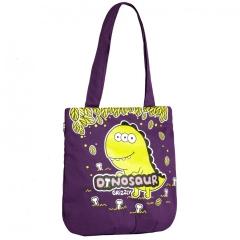 Фиолетовая сумка с динозавриком Grizzly | ДМ-1244