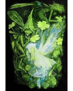 Клубная мужская футболка лесные эльфы (Светится в темноте и ультрафиолете)