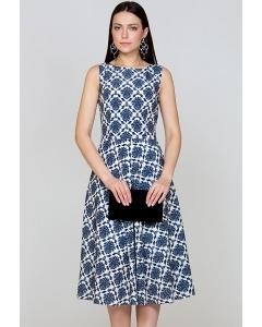 Сине-белое платье Emka Fashion PL-420/patricia