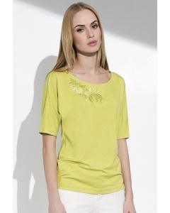 Летняя женская блузка салатового цвета Sunwear I64-3-19