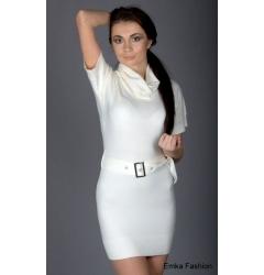 Белоснежное недорогое платье Yiky Fashion