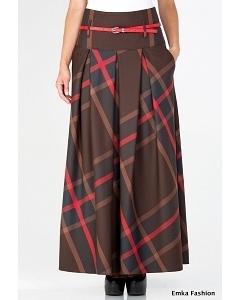 Длинная юбка с завышенной талией Emka Fashion 427-dezira