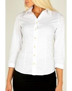 Белая женская рубашка Emka Fashion B1862-optik