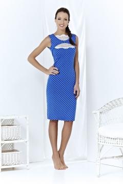 Синее платье в белый горох   A3 070