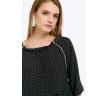 Летняя чёрная блуза в белый горох Emka B2304/cute
