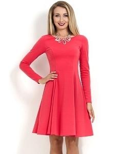 Коктейльное платье кораллового цвета Donna Saggia DSP-178-30t
