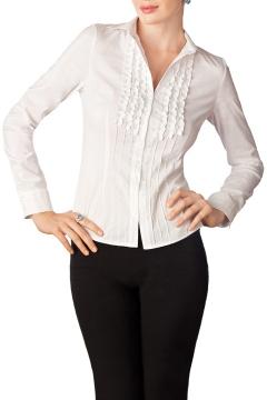Белая классическая блузка / Б659-934