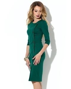 Платье-футляр зелёного цвета Donna Saggia DSP-192-44t