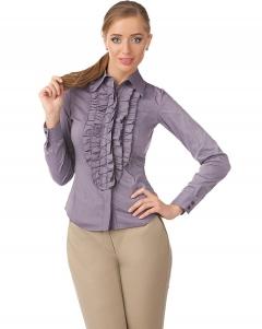 Офисная блузка нежного фиолетового цвета