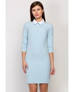 Платье с воротничком Emka Fashion PL-409/lupine