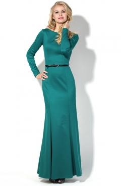 Длинное платье бирюзового цвета Donna Saggia DSP-127-19t