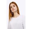 Белая блузка с чёрными лампасами Emka B2383/araika