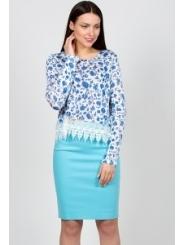 Голубая юбка Emka Fashion 391-diodora