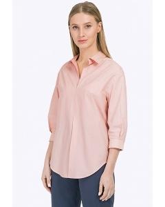 Светло-розовая блузка-рубашка из хлопка Emka B2294/amicus