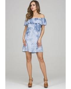 Платье с воланом и открытыми плечами Donna Saggia DSP-324-49