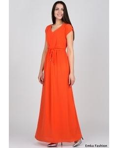 Яркое оранжевое платье Emka Fashion PL-414/agafya