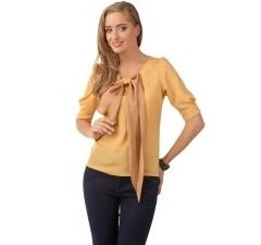 Оригинальная блузка с бантом