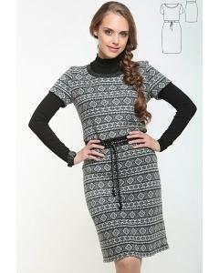 Тёплое платье в короткими рукавом Bravissimo 162553
