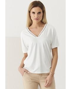 Блузка с V-вырезом и коротким рукавом Sunwear Q19-3-08