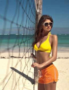 Женские оранжевые шорты Charmante Fiori