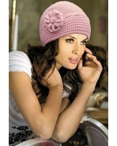 Розовая шапка Kamea Olivia