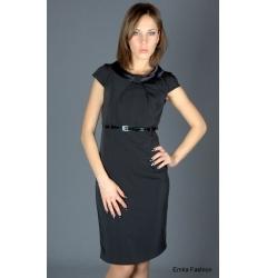 Стильное черное платье российского производства