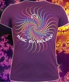 Клубная мужская футболка Music my religion