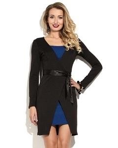 Эффектное черно-синее платье Donna Saggia DSP-172-37t