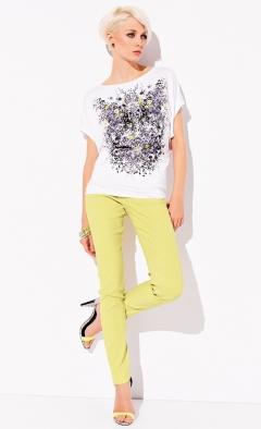 Белая блузка с принтом Zaps Renee