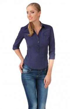Темно-синяя блузка Golub