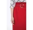 Красная юбка с завышенной линией талии Emka S754/stivi