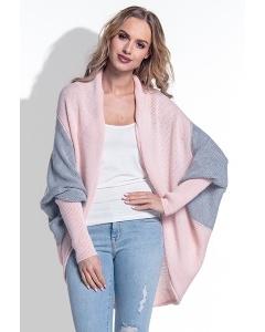 Женский серо-розовый кардиган Fimfi I165