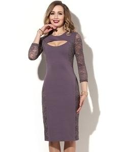 Лиловое коктейльное платье Donna Saggia DSP-129-87t