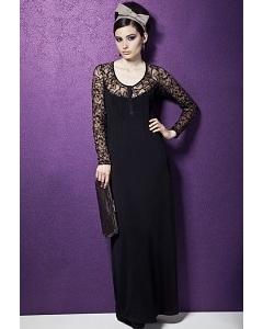Длинное черное платье TopDesign Premium PB3 42