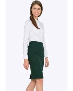 Офисная юбка зеленого цвета Emka S663/pacific