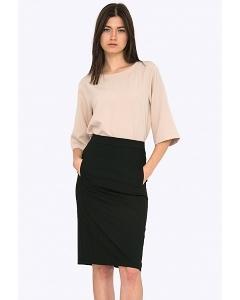Чёрная женская юбка Emka Fashion S742/binazir