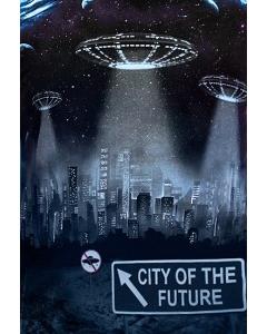Мужская футболка City of the Future (Светится в темноте)