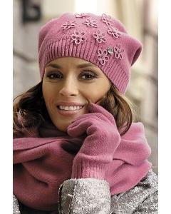Молодёжная шапка розового цвета Kamea Marianella