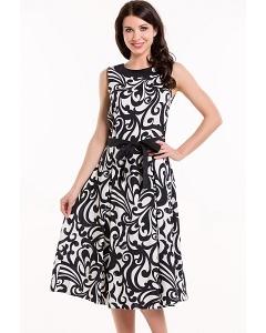 Чёрно-белое платье без рукавов Remix 7265